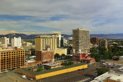 Aerial view of Reno downtown, Nevada Royalty Free Stock Photo