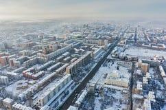 Aerial view on Republic street. Tyumen. Russia Royalty Free Stock Photo