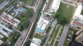 Aerial view of residential apartment