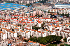 Aerial view of residential area. Residential areas in a Chinese new town Royalty Free Stock Images