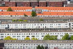 Aerial view residential area The Hague, The Netherlands Royalty Free Stock Photos