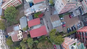 Aerial view of a residential area in Kathmandu stock video