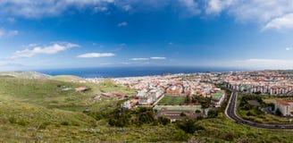 Aerial view of the residential area of Santa Cruz de Tenerife on Tenerife Canary Islands. Spain Stock Photos