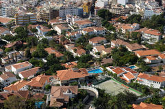 Aerial view of residential buildings Royalty Free Stock Photo
