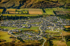 Aerial view of a residential community Royalty Free Stock Photos