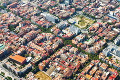Aerial view of  residential district. Barcelona Royalty Free Stock Images