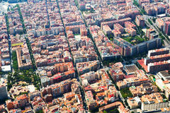 Aerial view of  residential district. Barcelona Royalty Free Stock Image