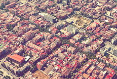 Aerial view of  residential district. Barcelona Stock Images