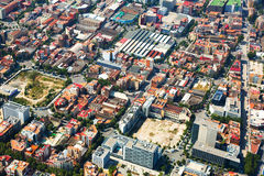 Aerial view of  residential district. Barcelona, Catalonia Stock Photography