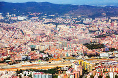 Aerial view of  residential district. Barcelona, Catalonia Royalty Free Stock Images