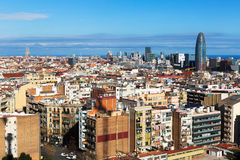 Aerial view of  residential  district. Barcelona Stock Photos
