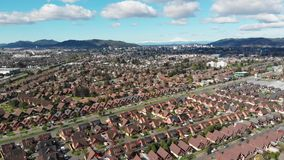 Aerial view of residential districts in Temuco, southern Chile. Aerial view of residential districts in Temuco, Araucania Region, southern Chile stock video footage