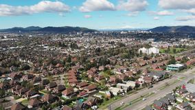 Aerial view of residential districts in Temuco, southern Chile. Aerial view of residential districts in Temuco, Araucania Region, southern Chile stock video