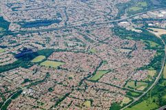 Earley, Reading - Aerial View Royalty Free Stock Photos