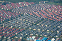 Aerial view of residential houses Royalty Free Stock Photography