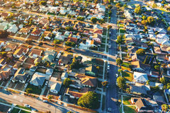 Aerial view of of a residential neighborhood in LA. Aerial view of of a residential neighborhood in Hawthorne, in Los Angeles, CA stock images