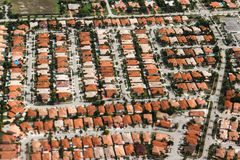 An aerial view of residential neighbourhood in Miami Stock Photos