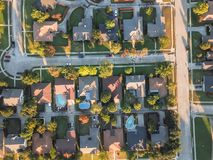 Free Aerial View Residential Subdivision With Swimming Pool And Dead-end Street Near Dallas, Texas Royalty Free Stock Photography - 134727827