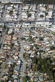 Aerial view of residential urban sprawl Royalty Free Stock Photography