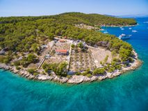Aerial view of resort. Stock Photos