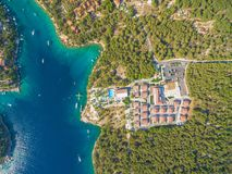 Aerial view of resort Royalty Free Stock Image
