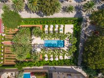 Aerial view of resort. Royalty Free Stock Photo