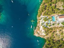 Aerial view of resort Stock Images