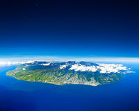 Aerial view of Reunion Island stock image