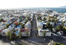 Aerial view of Reykjavik Royalty Free Stock Images