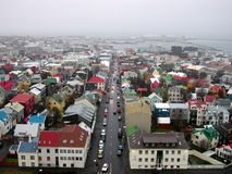 Aerial view of Reykjavik. Reykjavik seen from Hallgrimskirkja Stock Photo