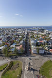 Aerial view of Reykjavik, the capital of Iceland Stock Photos