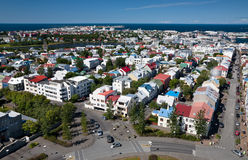 Aerial view of Reykjavik Royalty Free Stock Photo