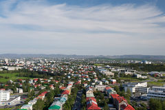 Aerial view of Reykjavik from the Hallgrimskirkja church, Icelan Stock Images