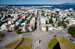 Aerial view of Reykjavik, Iceland Royalty Free Stock Images