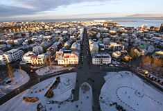 Aerial view of Reykjavik, Iceland. royalty free stock images
