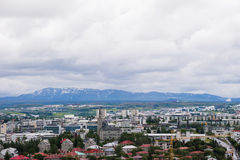 Aerial view Reykjavik, Iceland Royalty Free Stock Photography