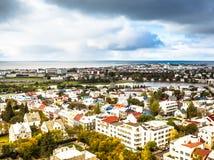 Aerial View of Reykjavik, Iceland Royalty Free Stock Photos
