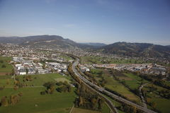 Aerial View Rhine Valley Austria stock image
