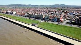 Aerial view of Rhyl in Wales - UK