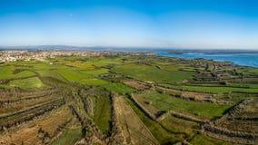 Aerial View of Ribeira de Pardelhas Stock Photos