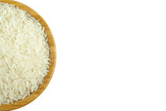 Aerial View of Rice in the Bowl on Isolated White Background Royalty Free Stock Photo