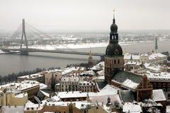 Aerial view of Riga Stock Photos