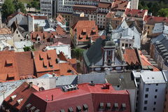 Aerial view of Riga, Latvia Royalty Free Stock Image