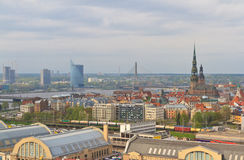 Aerial view of Riga, Latvia Royalty Free Stock Images