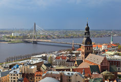 Aerial view of Riga, Latvia Stock Image