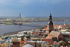 Aerial view of Riga, Latvia Stock Image