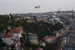 Aerial view of Rijeka, Croatia Stock Photo