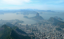 Aerial view of Rio de Janeiro, Brazil Stock Images