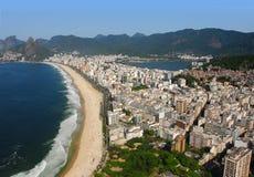 Aerial view of Rio De Janeiro, Brazil. Aerial view of Rio De Janeiro's famous beaches, parks and cityscape Stock Images