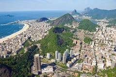 Aerial view of Rio De Janeiro, Brazil. Aerial view of Rio De Janeiro's famous mountains, and cityscape Stock Photography